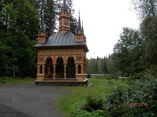 Haemeenlinna, Finlandia: Paviljonki matkalla näköalatornille Aulangolla