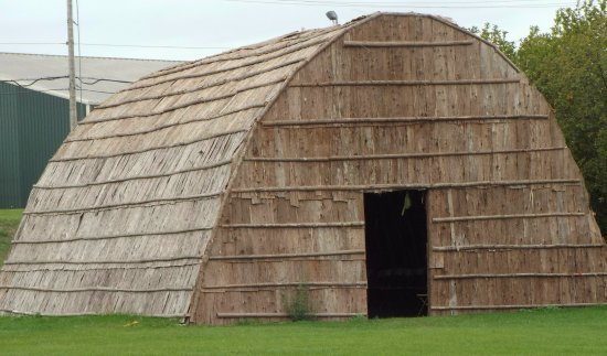 Museum of Ojibwa Culture: Long house, north side of the museum.