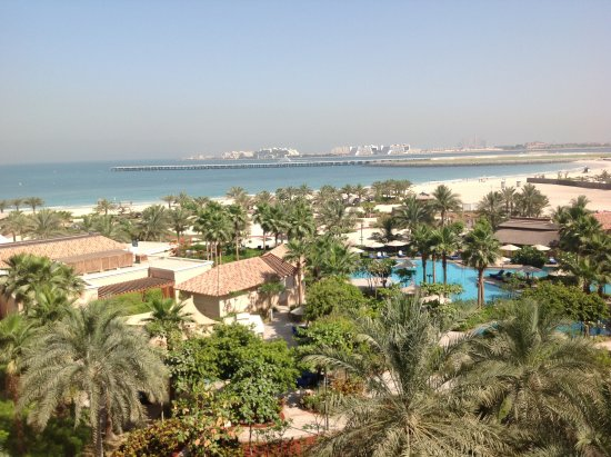 The Ritz-Carlton, Dubai: View from balcony, 5th floor.