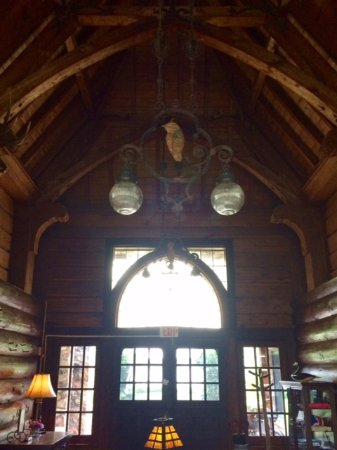 Birchwood, WI: Main lodge entrance - historic charm!