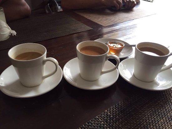 Kathmandu Guest House: Thali set, naan, chow mien, steam momo, basmati rice, masala tea.