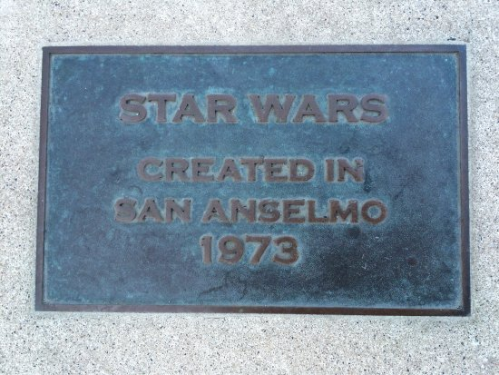 San Anselmo, Καλιφόρνια: Plaques for Indiana Jones and Star Wars