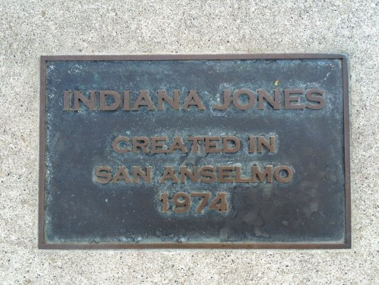 San Anselmo, Kalifornien: Plaques for Indiana Jones and Star Wars