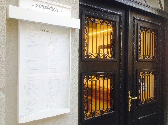 Entrance To The Restaurant Voncimer Zagreb Picture Of Voncimer