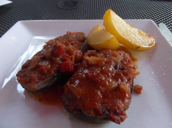 Restaurant Sa Mata: Stuffed aubergine (eggplant)