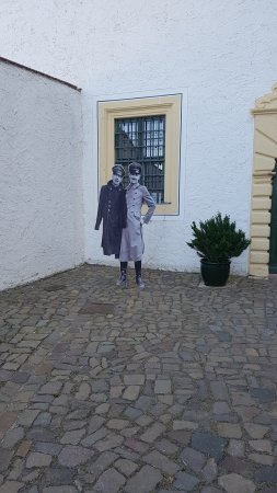 Schloss Colditz: Part of the scenery in the courtyard