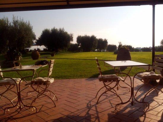 Pozzuolo, Italia: zona esterna relax e colazioni