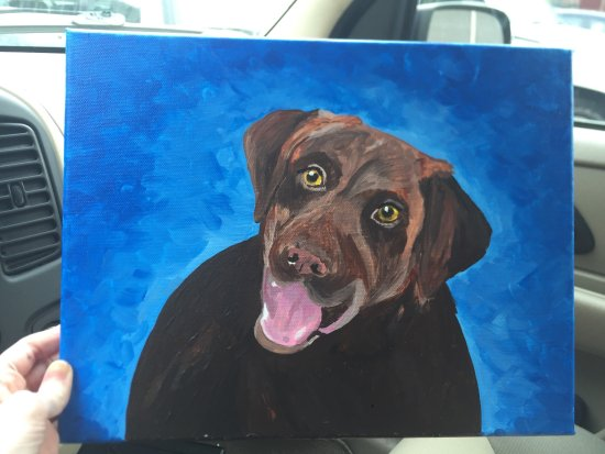 Art Plus Studio: This is my dog, Mocha! I think she turned out great for my first time!