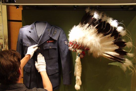 Ignacio, CO: Arrangement details on an Air Force uniform