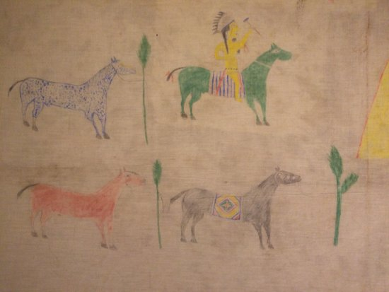 "Southern Ute Museum and Cultural Center : Painting on muslin, 30"" x 60"""