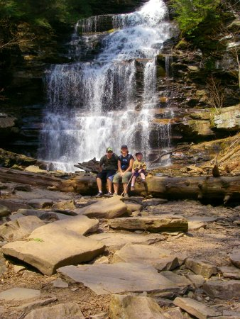 Benton, Pensylwania: One of the amazing waterfalls at Ricketts Glen State Park