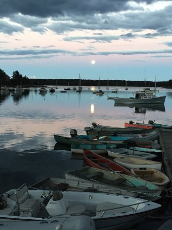 Moonlight on Round Pond Harbor