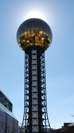 Sunsphere Tower: Sun behind the Sunsphere