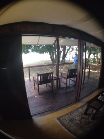 Lower Zambezi National Park, Zambia: Our porch looking over the Zambesi River....