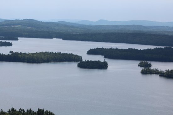 Holderness, NH: View from the top of Rattlesnake Mountain - Squam Lake