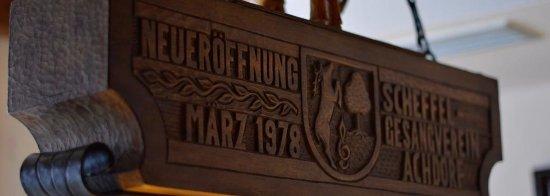 Blumberg, Tyskland: Schild Neueröffnung März 1978