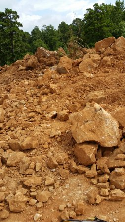 Jessieville, AR: Pile of tailings to search for crystals