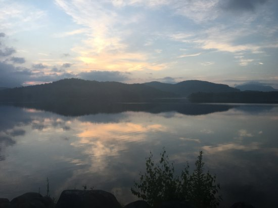 Lake Placid Lodge: dawn over lake placid