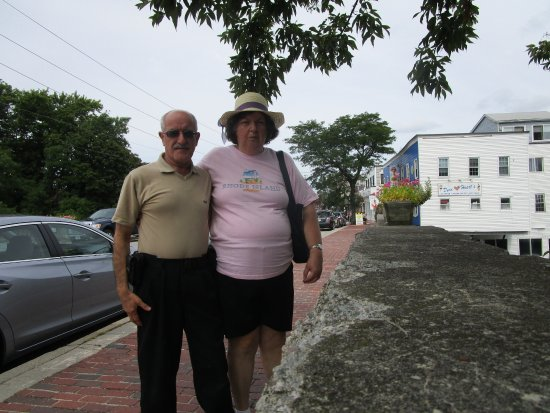 Cranston, RI: Louis and I at Pawtuxet Village.