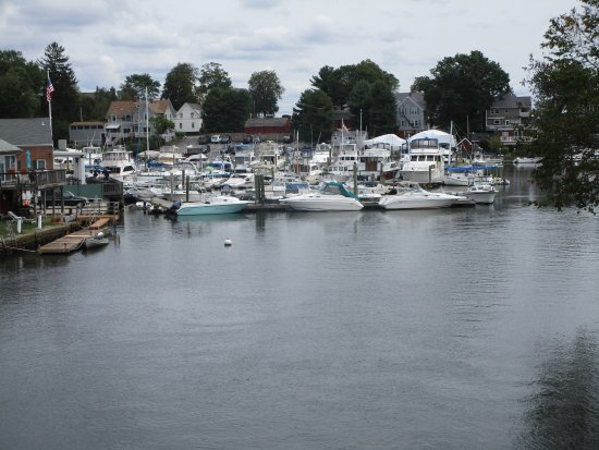 Cranston, RI: A view of the water at  Pawtuxet Village.