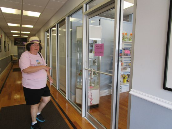 Cranston, RI: That is me in the hallway outside of Betty's Candies
