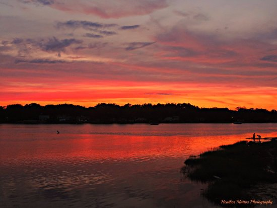 Wareham, MA: Sunset over the WeWeAntic River by Heather Mattos Photography
