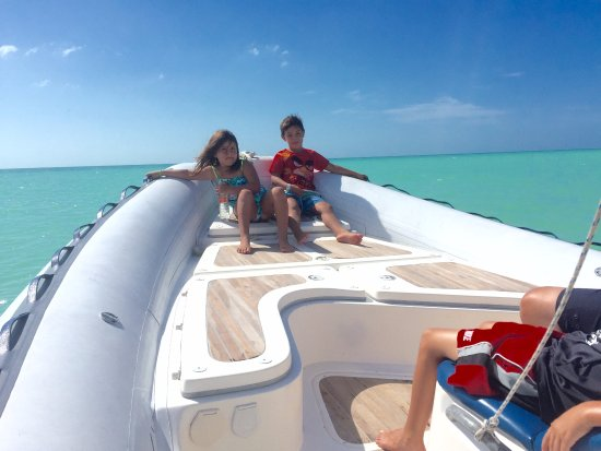 Holbox Whale Shark Tours with Willy's Tours: 6 and 8 year olds in calm waters just enjoying the experience.