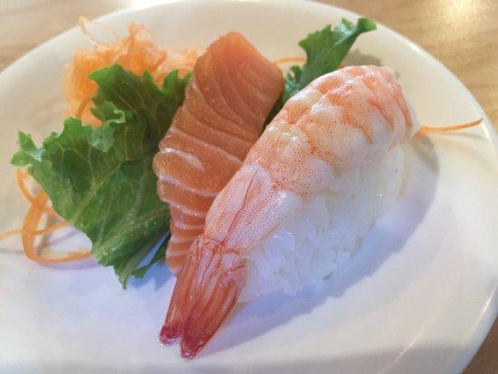 ปรินซ์จอร์จ, แคนาดา: Salmon Sashimi and Ebi