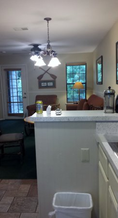 South Lee, MA: View from kitchen to living room. Spacious.