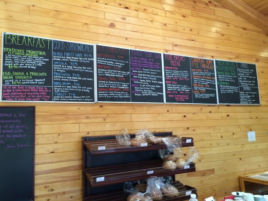 Orderville, UT: Menu in May 2016