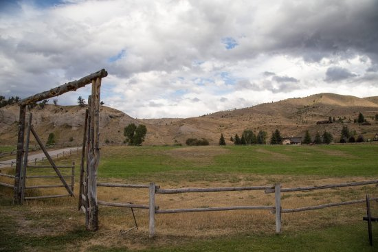 Spotted Horse Ranch: Paddock in the front of the ranch
