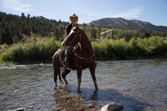 Spotted Horse Ranch: The Hoback River (runs through the ranch)