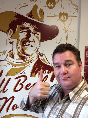 TX Burger : All Beef, No Bull, just like John Wayne says!