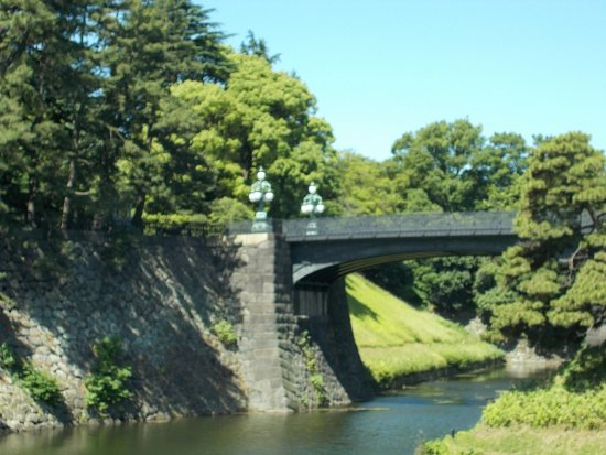 Kokyo Gaien National Garden: A close-up view of the Nijubashi Bridge just a short distance to the right of Meganebashi