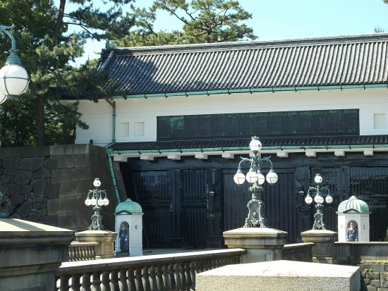 Kokyo Gaien National Garden: The palace entrance from the Meganebashi Bridge on the south side of the Palace