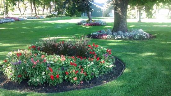 Vernon, Canada: Well kept flower beds 2