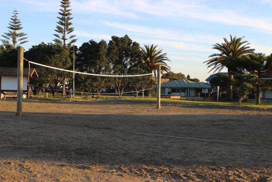 Volleyball court - part of the recreation area on the reserve above Orewa Beach.