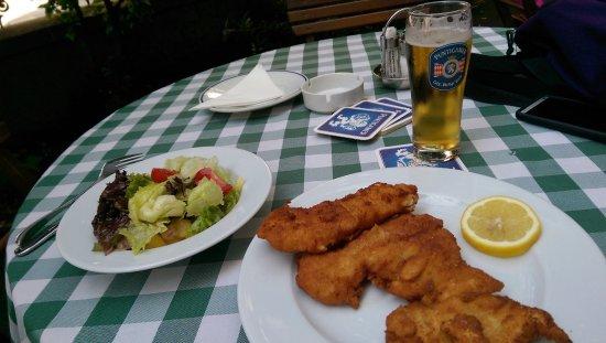 Gasthaus Ubl: chicken schnitzel & potato salad.