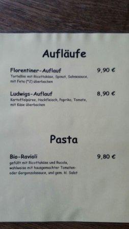 Speisekarte - Bild von Cafe Ludwigs, Bad Segeberg