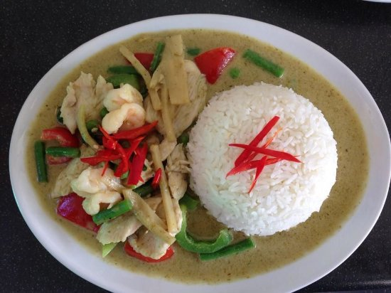 Rawtenstall, UK: Thai Green curry with Jasmine rice