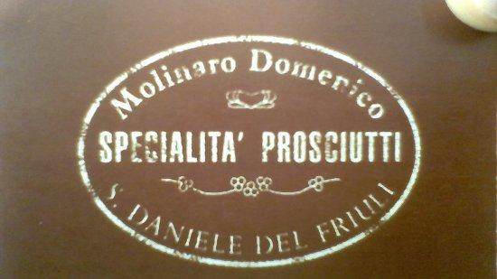 San Daniele del Friuli, Itália: Biglietto da visita - Fronte