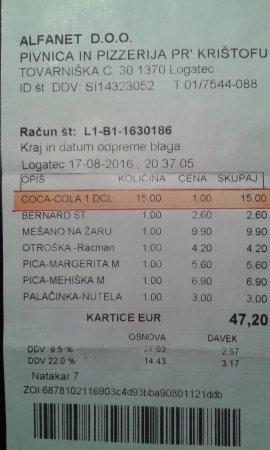 Logatec, Slovenia: 1 COCA-COLA = 15 EURO !!!