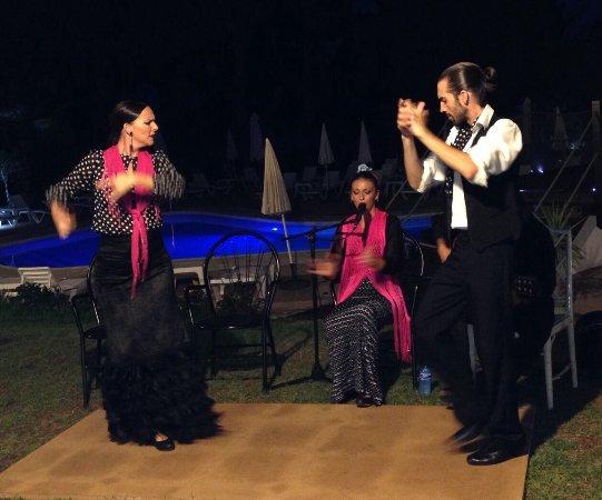 El Paraiso Restaurante & Country Club: Flamenco on Wednesday, very professional .