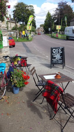 Outside the Old Dairy Cafe in Pucklechurch, S. Glos