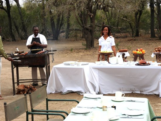 Ngala Private Game Reserve, แอฟริกาใต้: Breakfast in the bush after the morning drive couldn't have been better.
