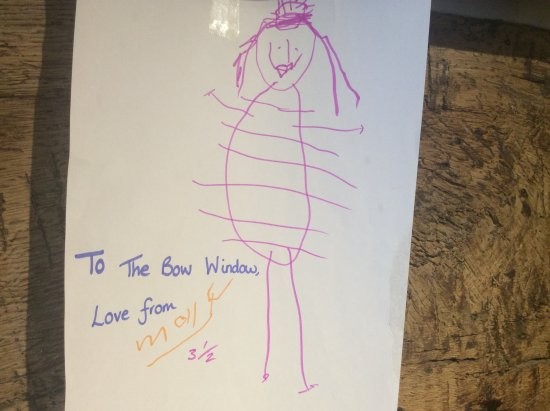 Lenham, UK: A lovely picture for us from little Molly aged 3 and a half