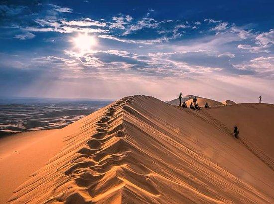 Gobi Gurvansaikhan National Park: Sunset at the Sand Dunes in Gobi Desert, Mongolia