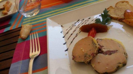 Jurancon, Francia: Foie gras et brioche tiède
