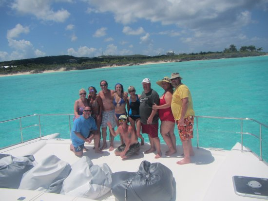Oyster Pond, St. Maarten-St. Martin: Members of The Tribe offshore Anguilla