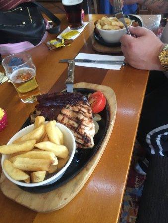 The BlackBerry Jack: The Chicken dish & the Steak & King Prawn main..
